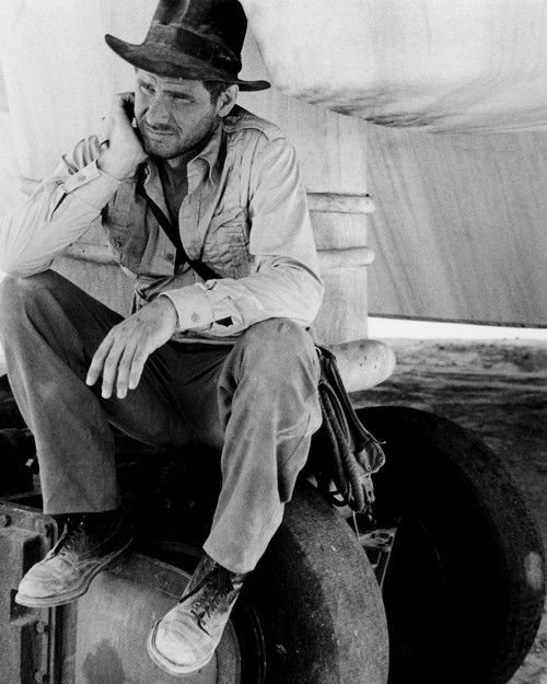 Harrison Ford --filming Raiders of The Lost Ark.
