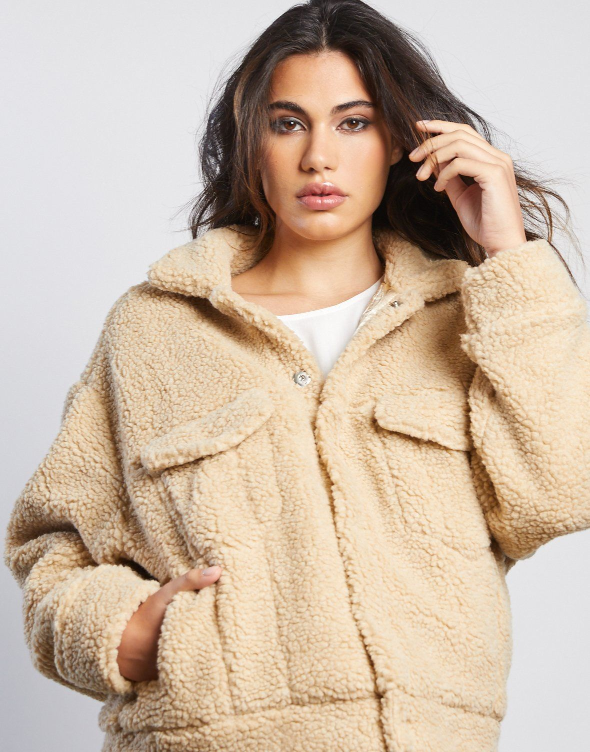 Bundled Up Fuzzy Coat In 2021 Fuzzy Coat Outfit Coat Outfit Casual Fuzzy Coat [ 1505 x 1180 Pixel ]