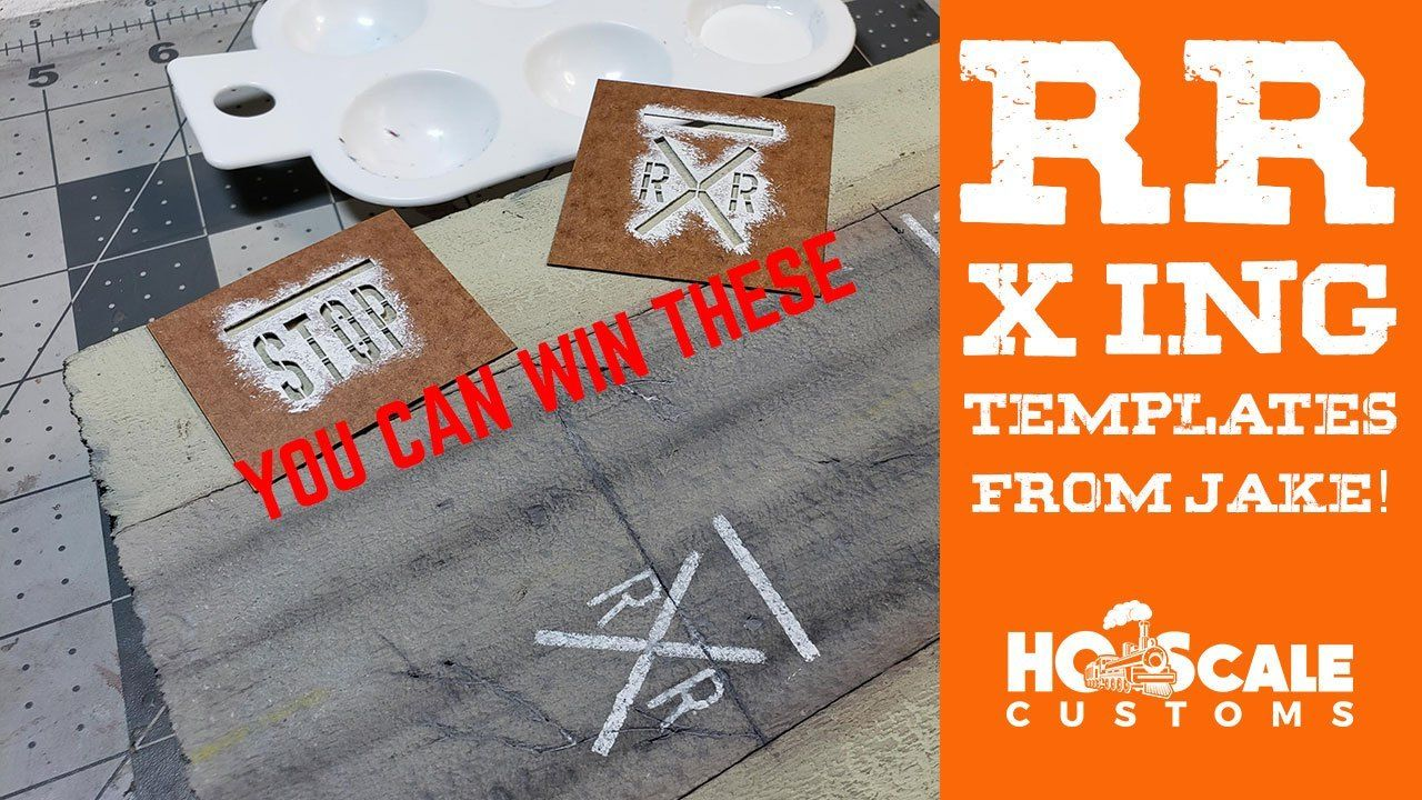 Road paint sign stencils, STOP & RR XIng Giveaways