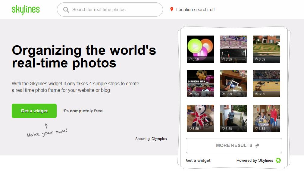Coloca en tu sitio web un widget con imágenes en tiempo real con Skylines,