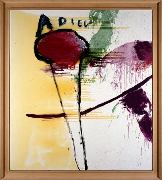 Adieu Oil, resin on gesso primed canvas, 108 x 96 in,1995 ...