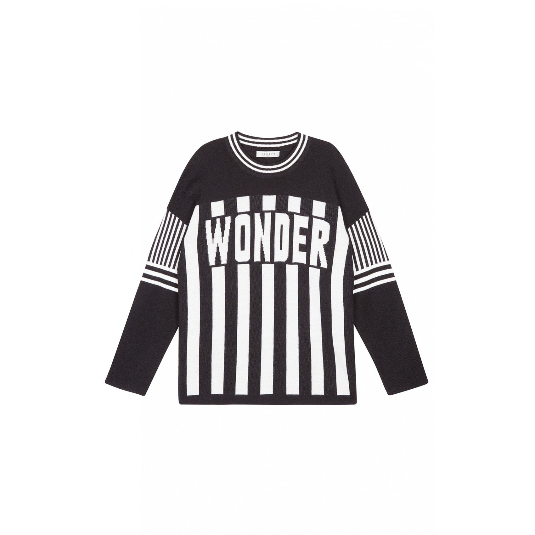 Sandro Super Graphic Striped Sweater At Sandro US (With