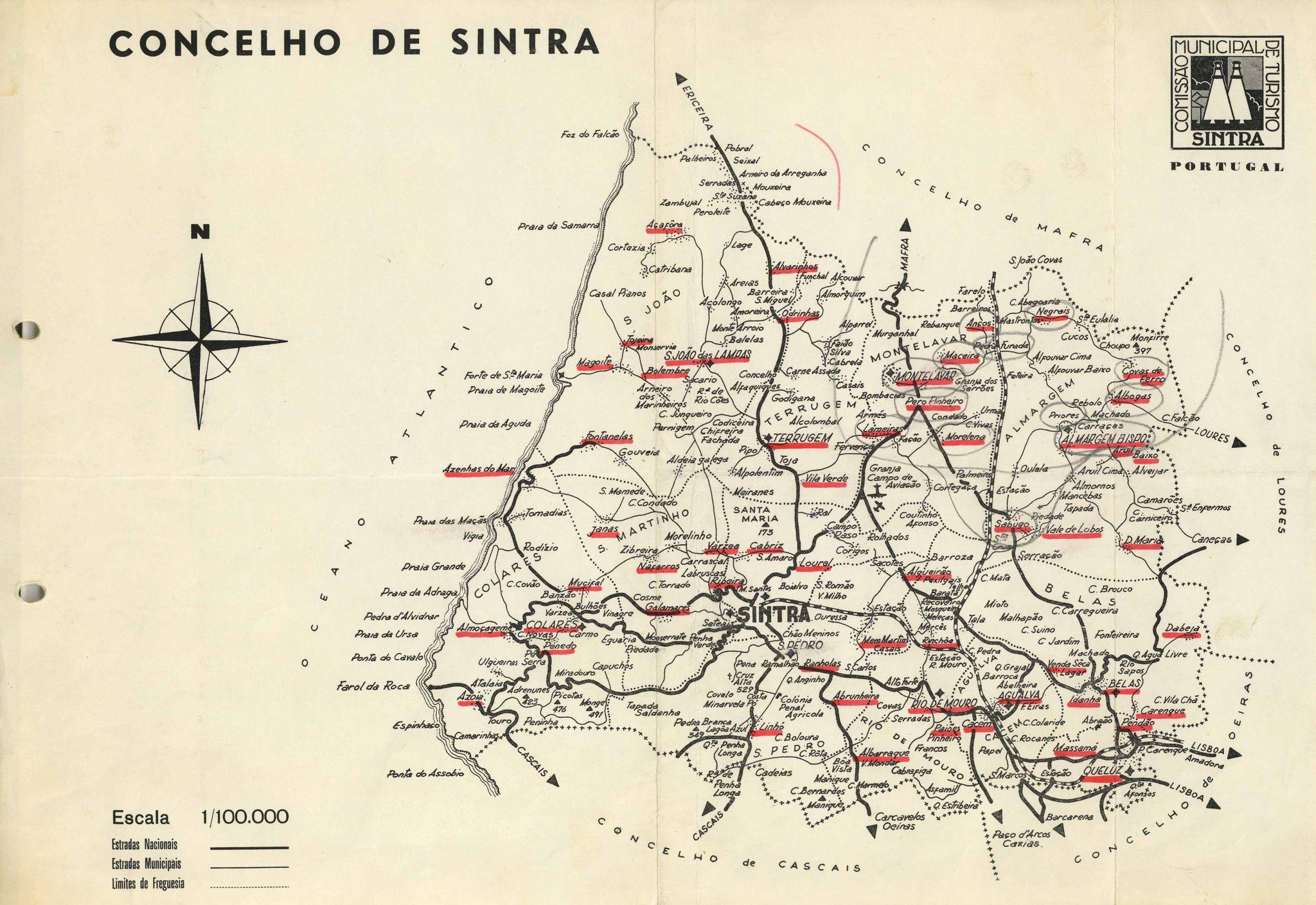 Biblioteca Itinerante N º 062 Sintra Mapa Itinerarios Map