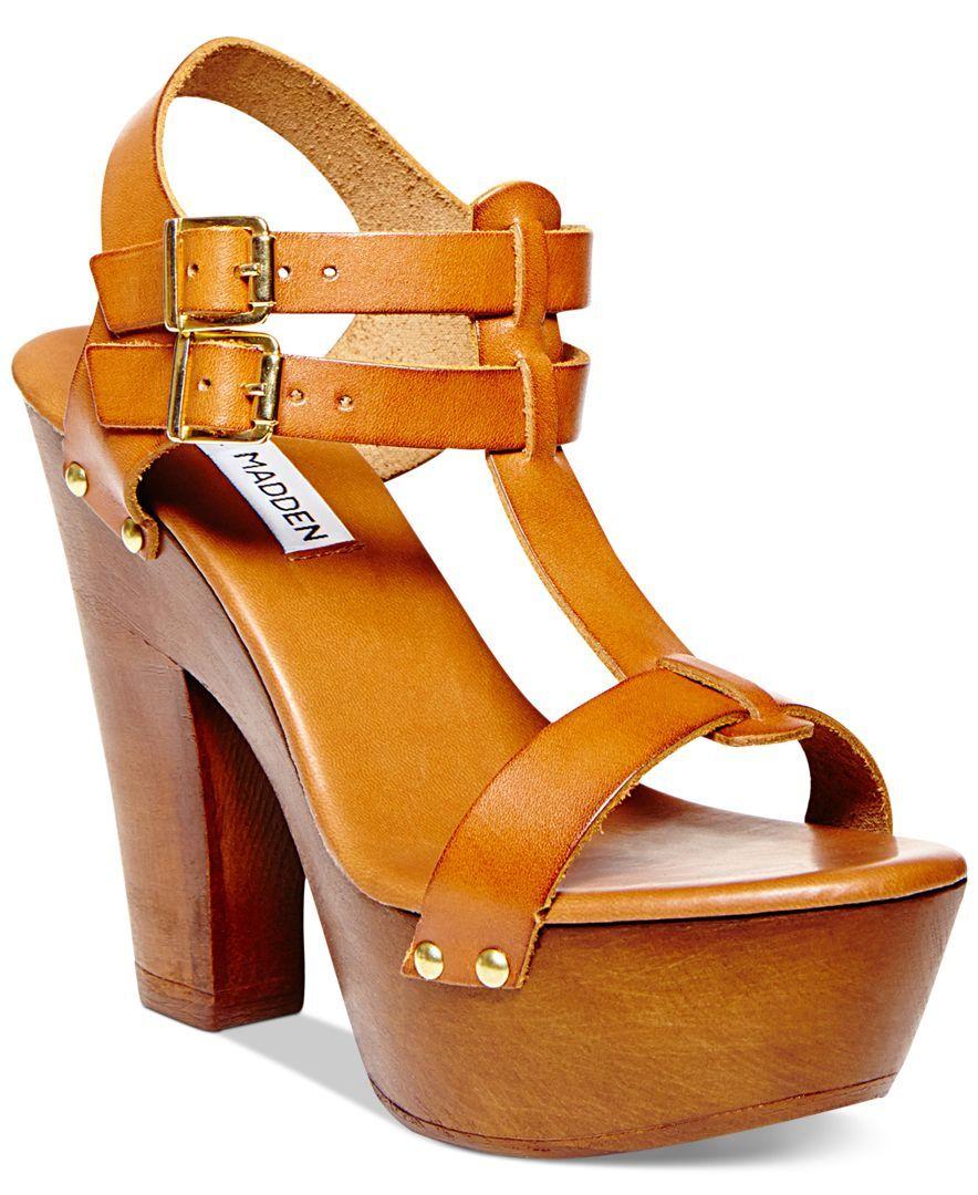 Profesión Activo Londres  Steve Madden Women's Linear Platform Sandals   Wooden shoes, Shoes,  Platform sandals