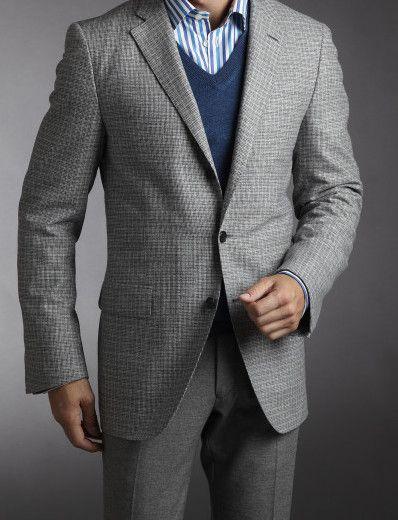 Construction of Light Gray Suit #menstyle #suit