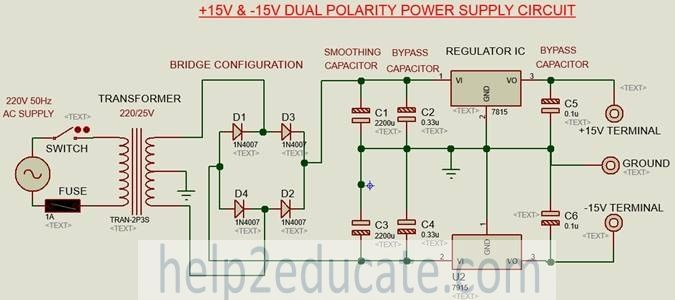 connection diagram for dual polarity power supply circuit | Home ...