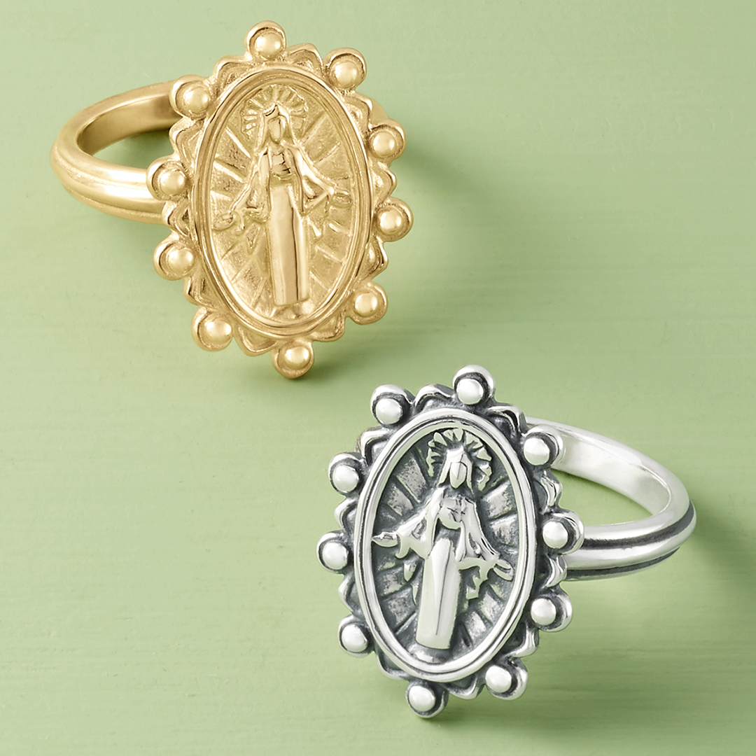 Virgin Mary Ring in 2020 Catholic jewelry, Bling, James