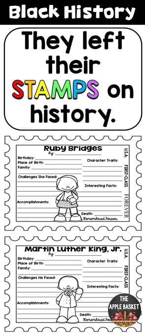 Black History Research Project Templates for Grades 3-5 (Research