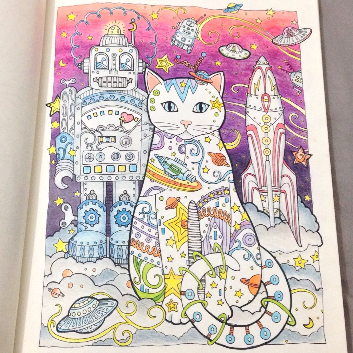Creative cats space cat coloring book pinterest space cat