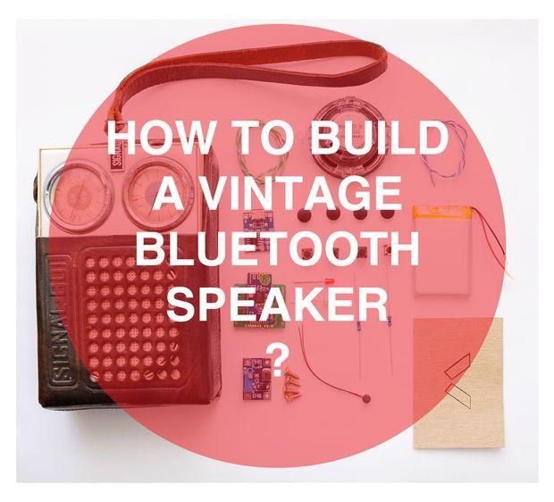Bluetooth Speaker Made From Old Vintage Radio Diy Portable Speaker Portable Speaker Vintage Radio Old Radios