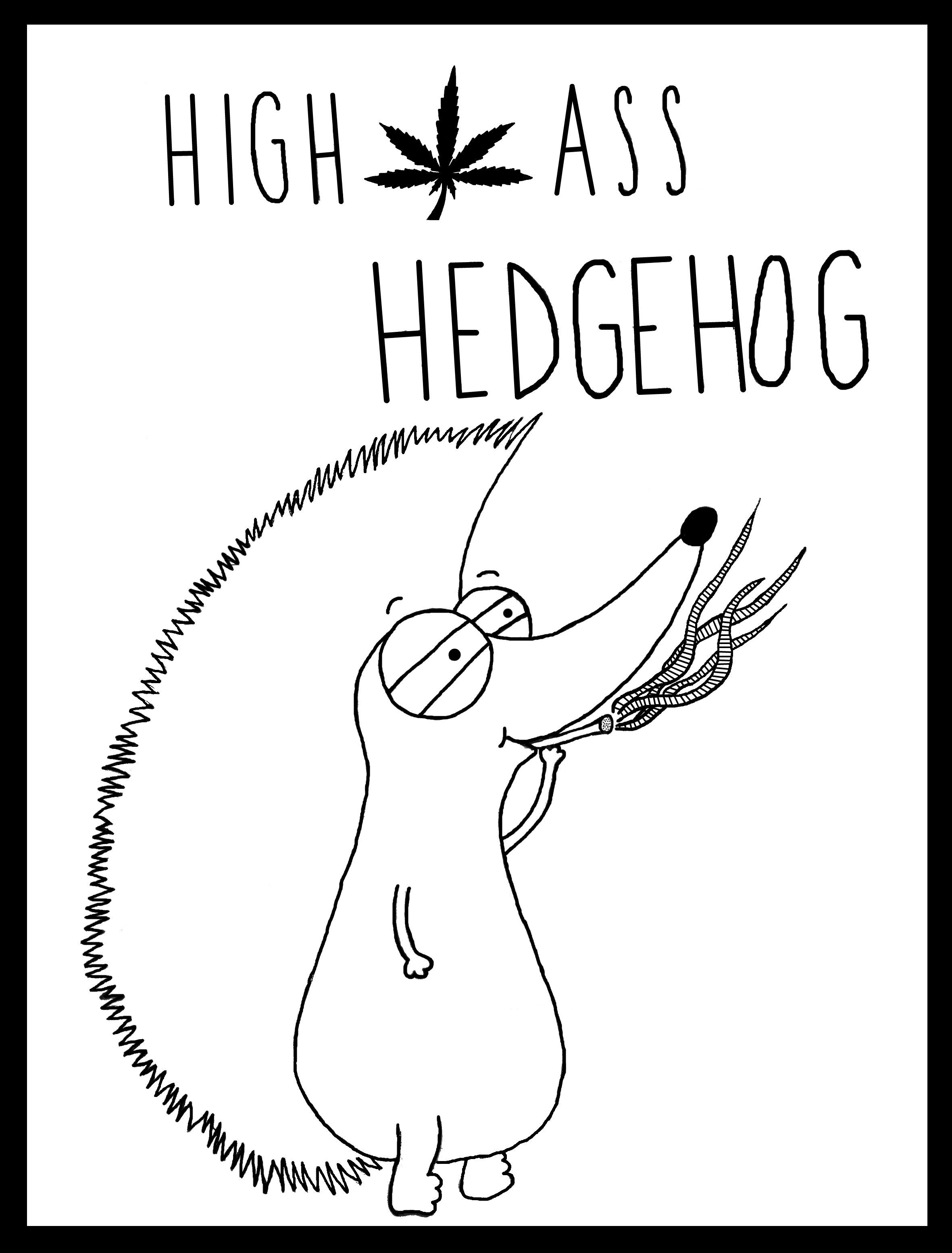 High Ass Hedgehog #stoner #weed #high #love #peace | Chakra Squares ...