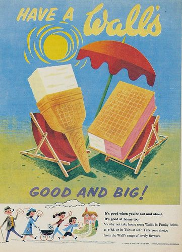 Take home some walls vintage magazine ice cream advert poster reproduction.