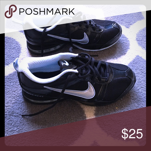 a689a891bc3ae1 Nike Reax women s running shoes Black with light blue and silver accents. Never  worn Nike