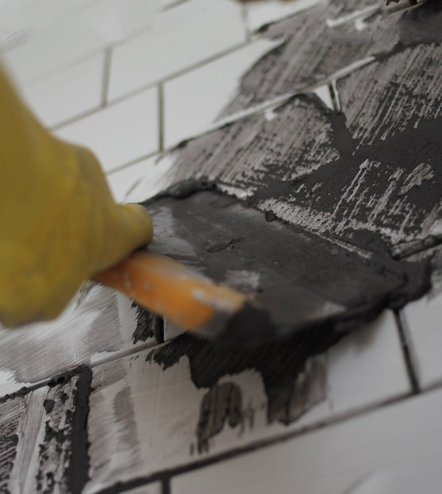 Diy project how to grout tile grout apartment therapy and therapy