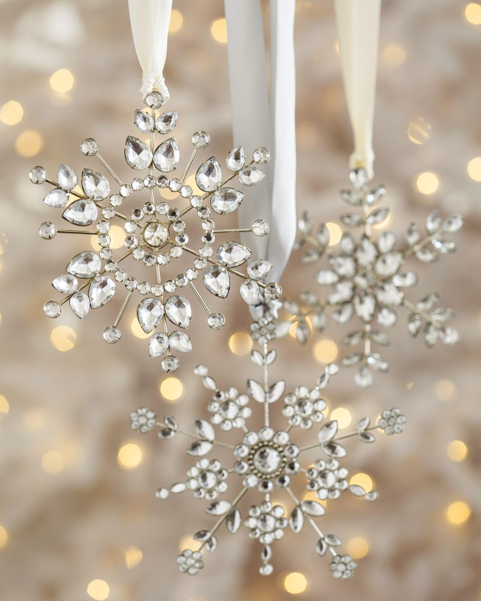Snowflake Ornament Set Balsam Hill Rose gold christmas
