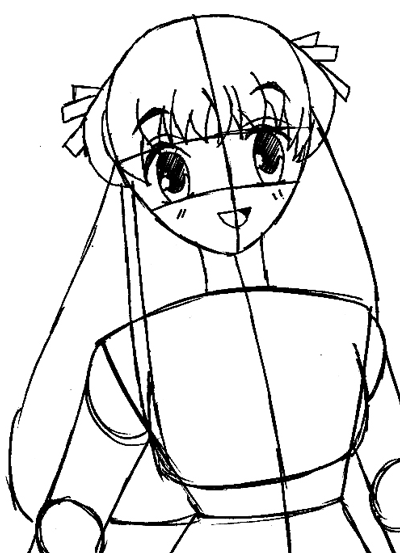 step 8 drawing tohru honda from fruits basket easy steps lesson