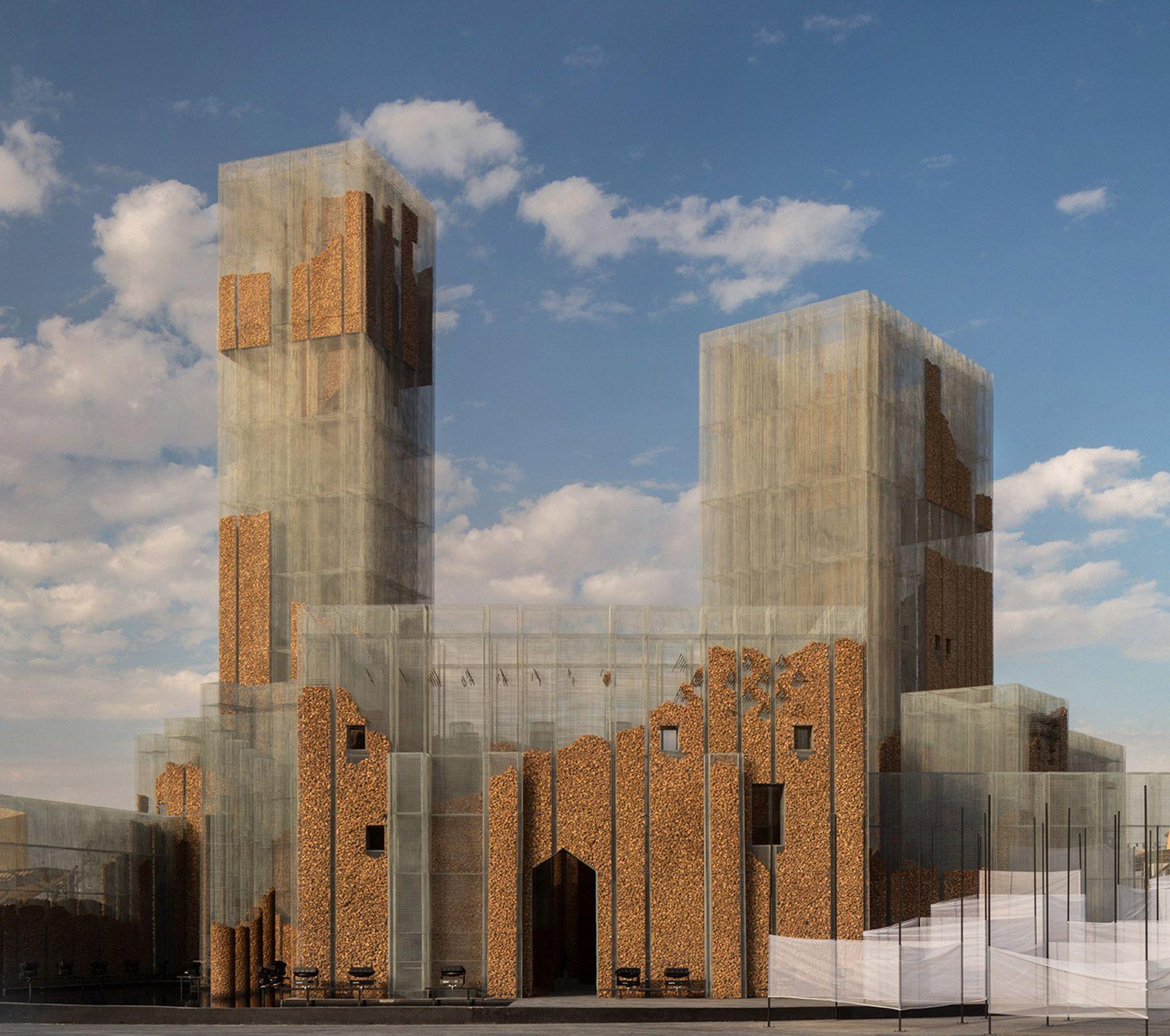 Gharfa Is A Pavilion In Riyadh By Edoardo Tresoldi S Studio Studio Studio Lab In 2020 Riyadh Architecture Landmark Street Installation