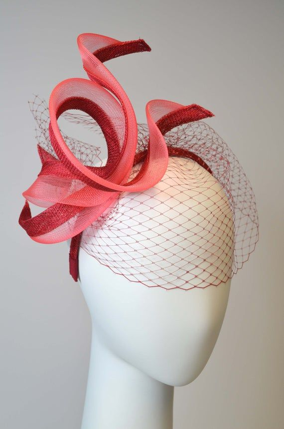 Alice Band Fascinator with veiling, crin and sinamay, FLORA