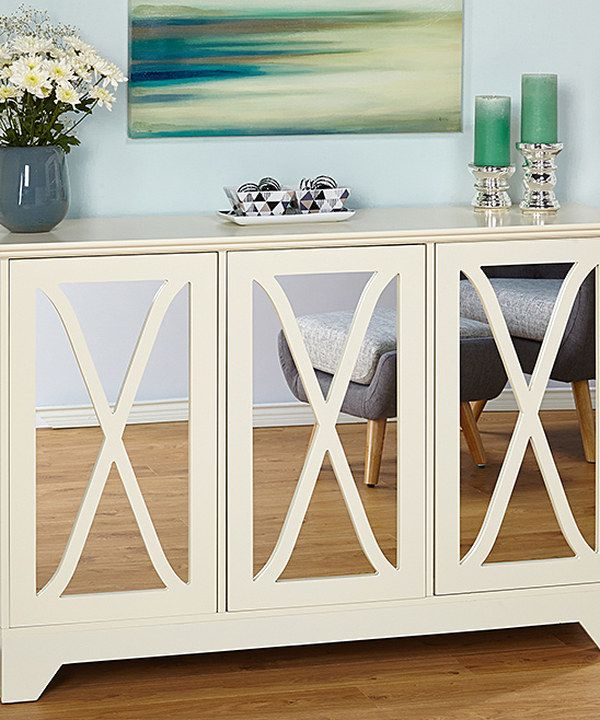 Look at this White Reflections Buffet/Console Table on #zulily today!