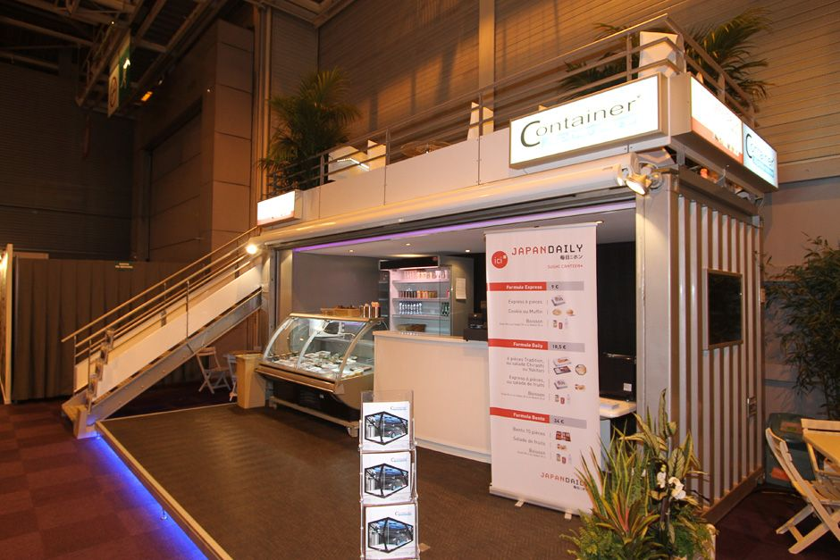 Le container bar lounge am nag en restaurant et en stand for Conteneur amenage