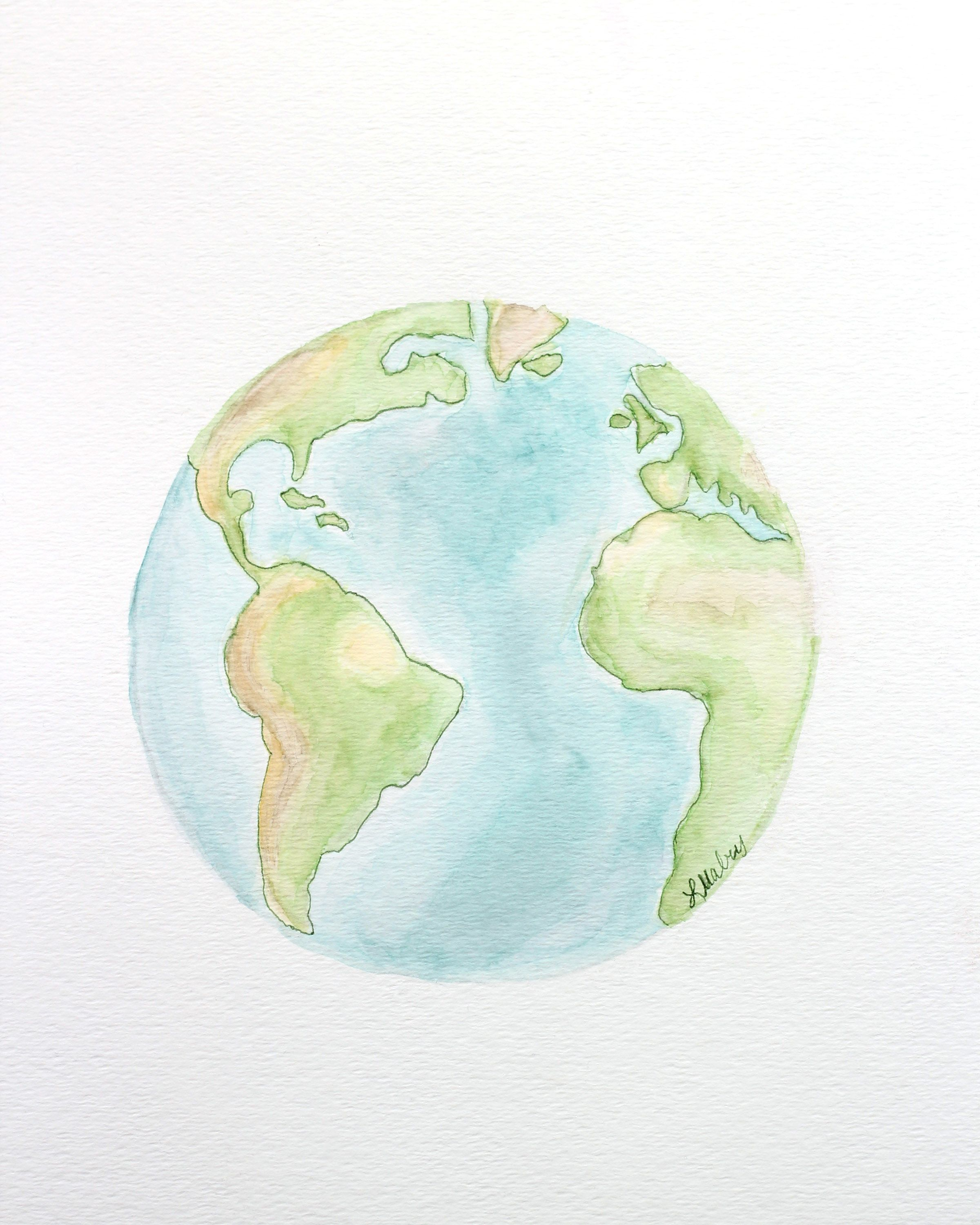 photo regarding Earth Printable called Watercolor Planet Printables PRINTABLES Planet drawings