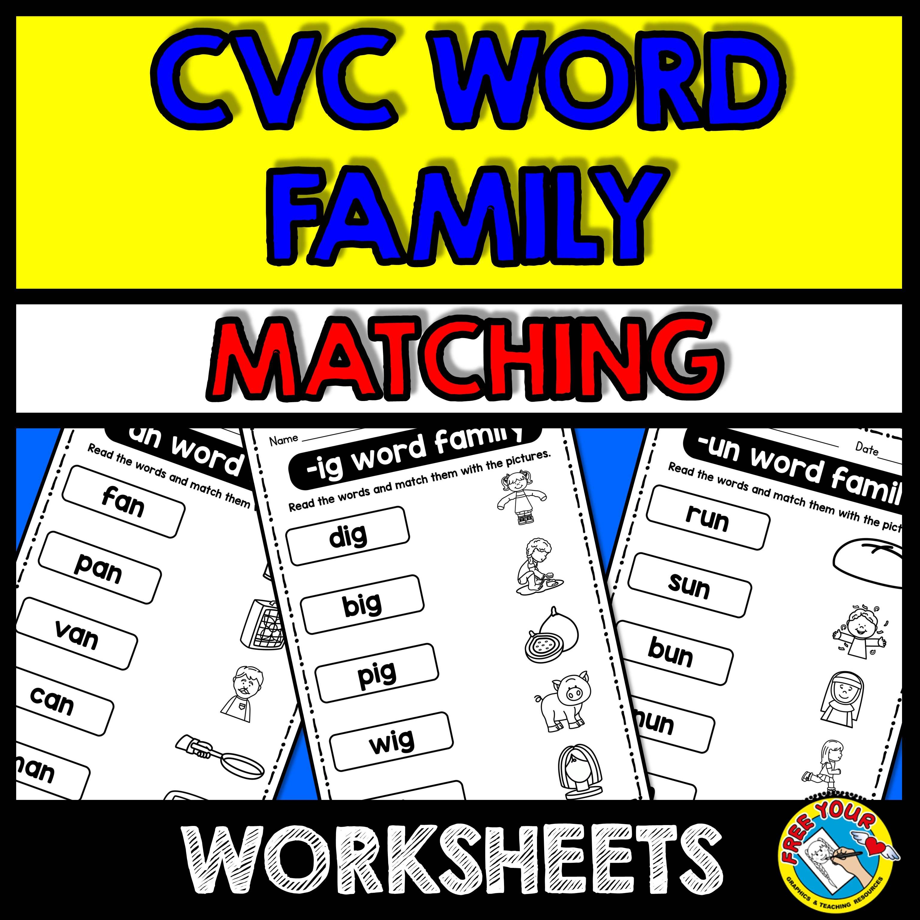 Cvc Worksheets Kindergarten Word Family Activities