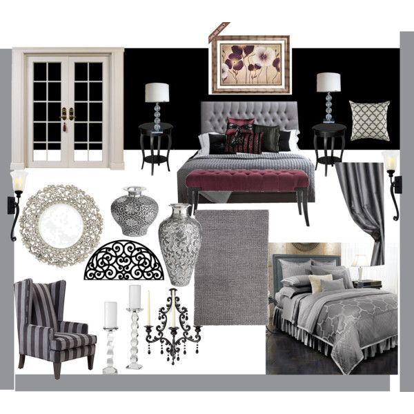 Grey And Burgundy Living Room Ideas: My Black And Grey Bedroom With A Splash Of Burgundy