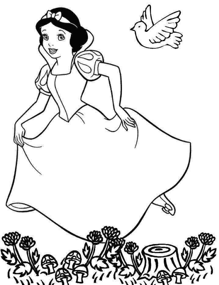 Amazing Disney Cartoon Snow White Coloring Pages For Kids