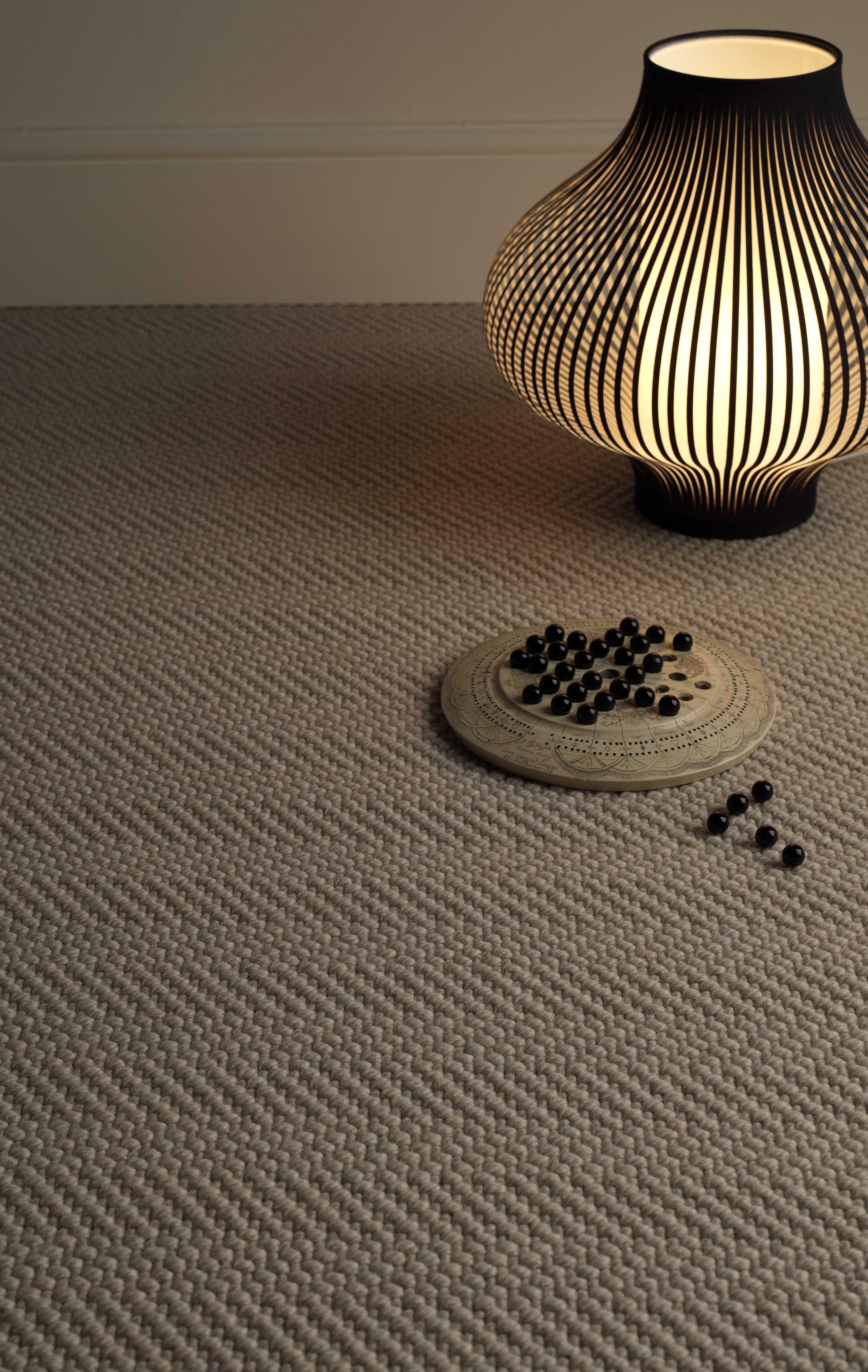 Jacaranda Natural Weave Herringbone Marl Carpet