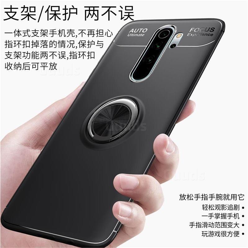 Auto Focus Invisible Ring Holder Soft Phone Case For Mi Xiaomi Redmi Note 8 Pro Black Xiaomi Redmi Note 8 Pro Cases Guuds Phone Cases Xiaomi Pro Black
