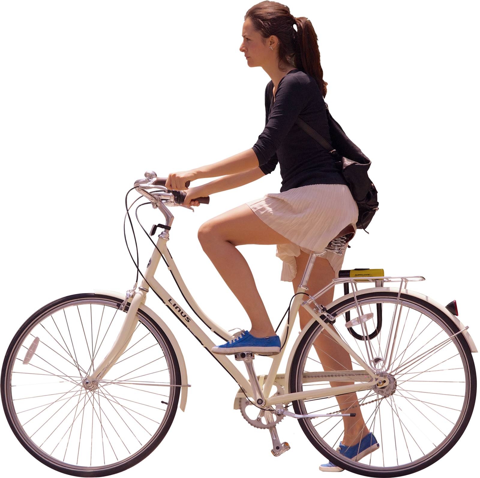 woman waiting on bike, side on | Photoshop silhouette for ...