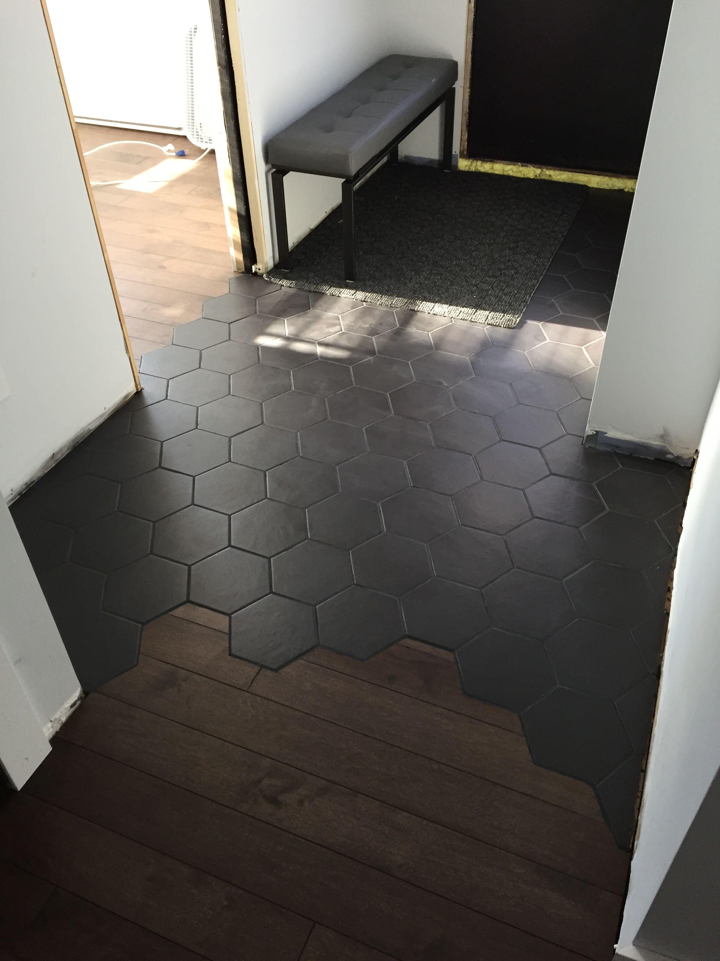 Photo of Tile hexagone #darkflooring