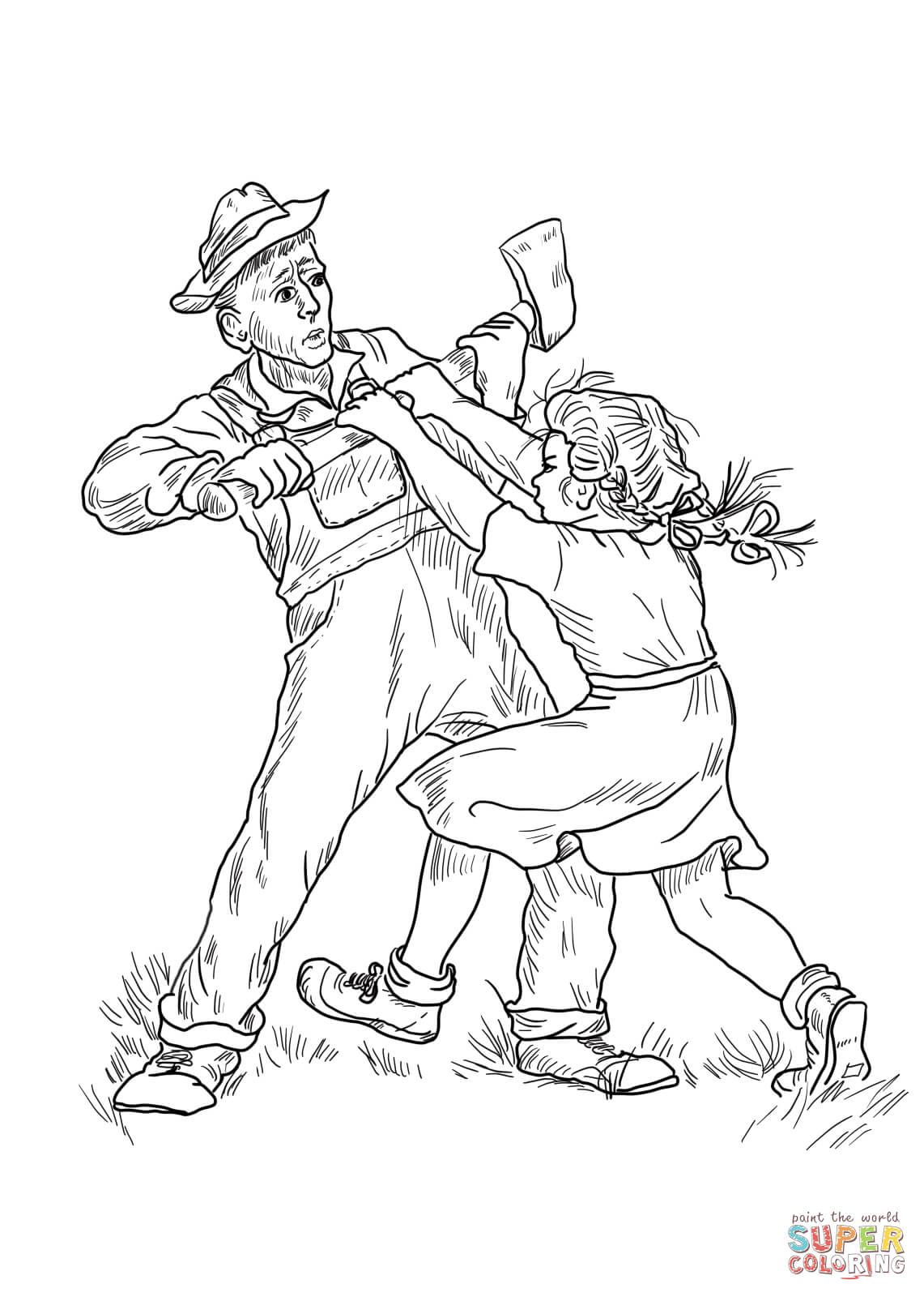Fern Saves Wilbur Coloring Page From Charlotte S Web Category Select From Printable