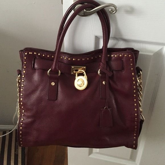 michael kors oxblood hamilton bag my posh picks michael kors rh pinterest ca
