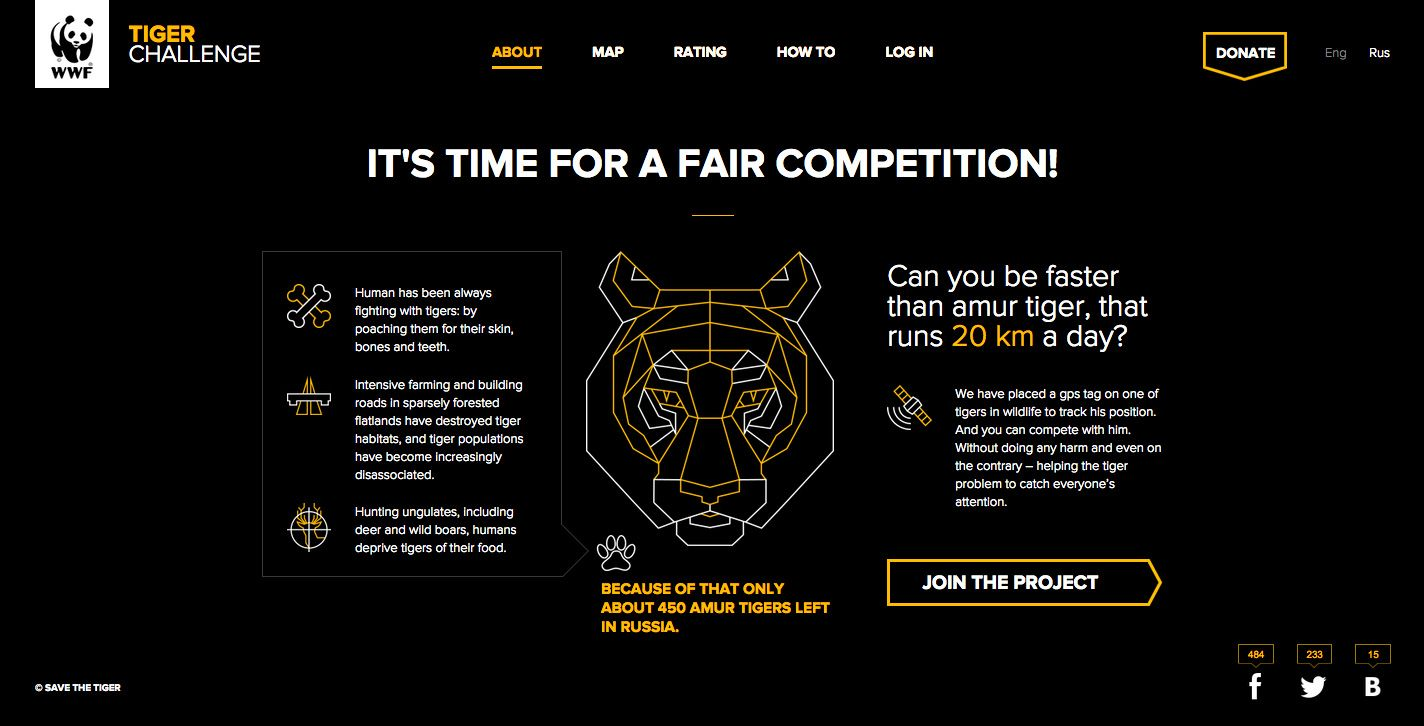 Tiger Challenge - Site of the Day May 05 2015