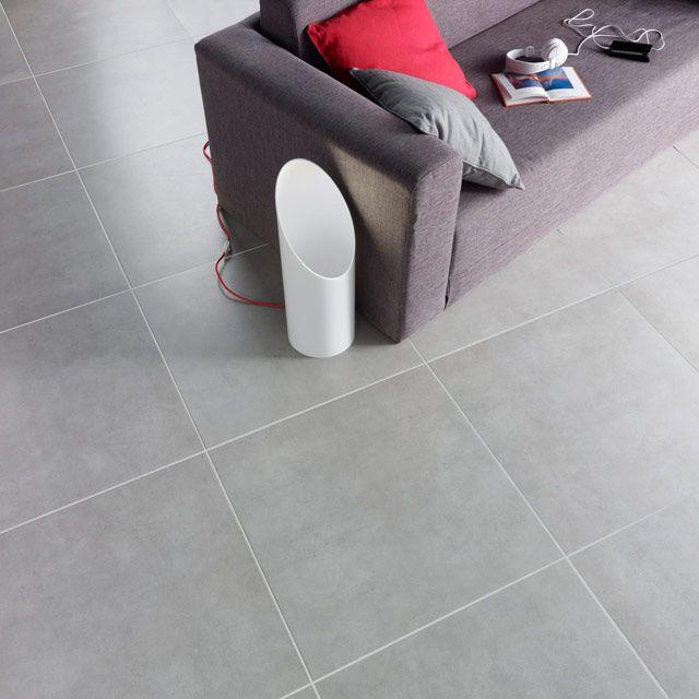Carrelage sol et mur gris 60 x 60 cm louvio castorama for Carrelage interieur 60 x 60