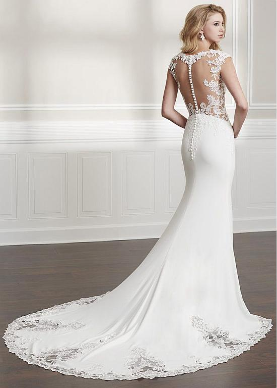 f6d4ffeff300 [225.59] Marvelous Tulle & Four Way Spandex Sweetheart Neckline Mermaid  Wedding Dresses With Lace Appliques & Beadings - magbridal.com.cn