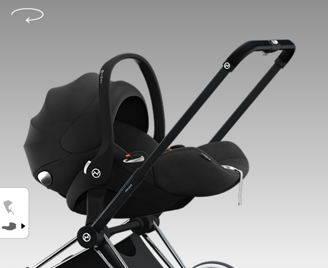 Cybex Platinum Cloud Q Kinderwagen Cybex Cloud Q Babyschale Platinum Lieblingsfarbe Plus