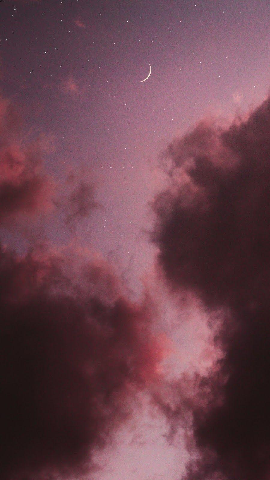 Pink sky #aestheticwallpaperiphone