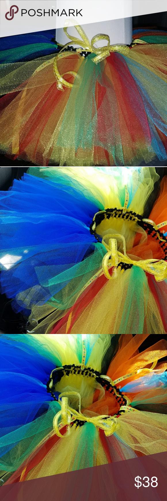 Tutu skirt Emogi colors, colorful tutu, any size Tutu Skirt Blues, yellows,reds and greens. Tiny's Tutus Bottoms Skirts
