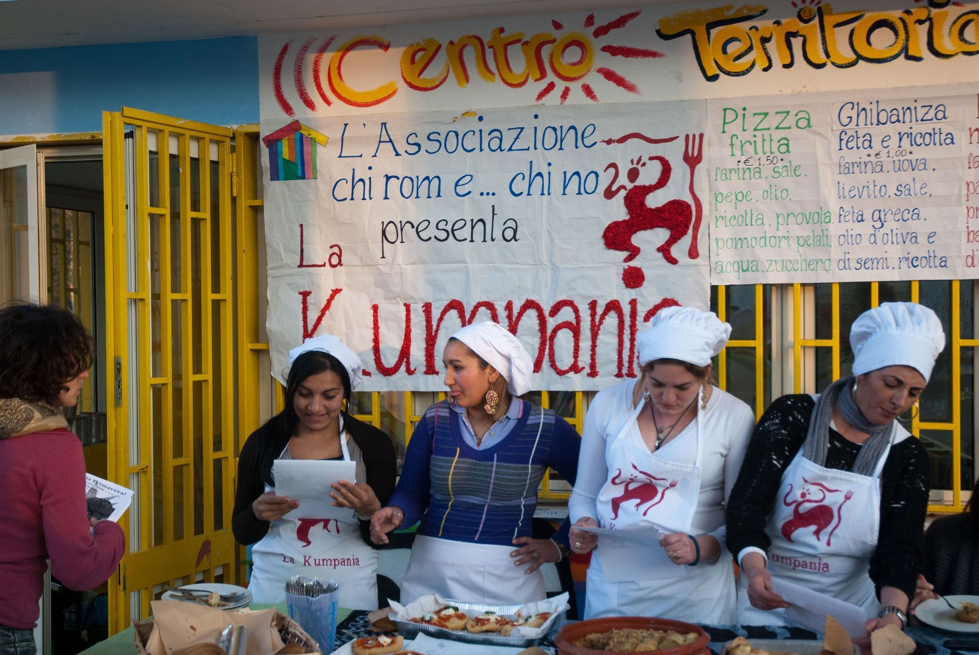 Winners of the Naples 2.0 social innovation competition 'Chi Rom e Chi No' proposed to start a catering enterprise that would create employment opportunities for Roma women in the Scampia neighbourhood