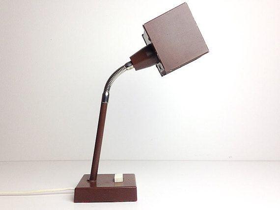 Vintage Desk Cube Lamp / Brown / Kuben by Hans Agne by RigaVintage
