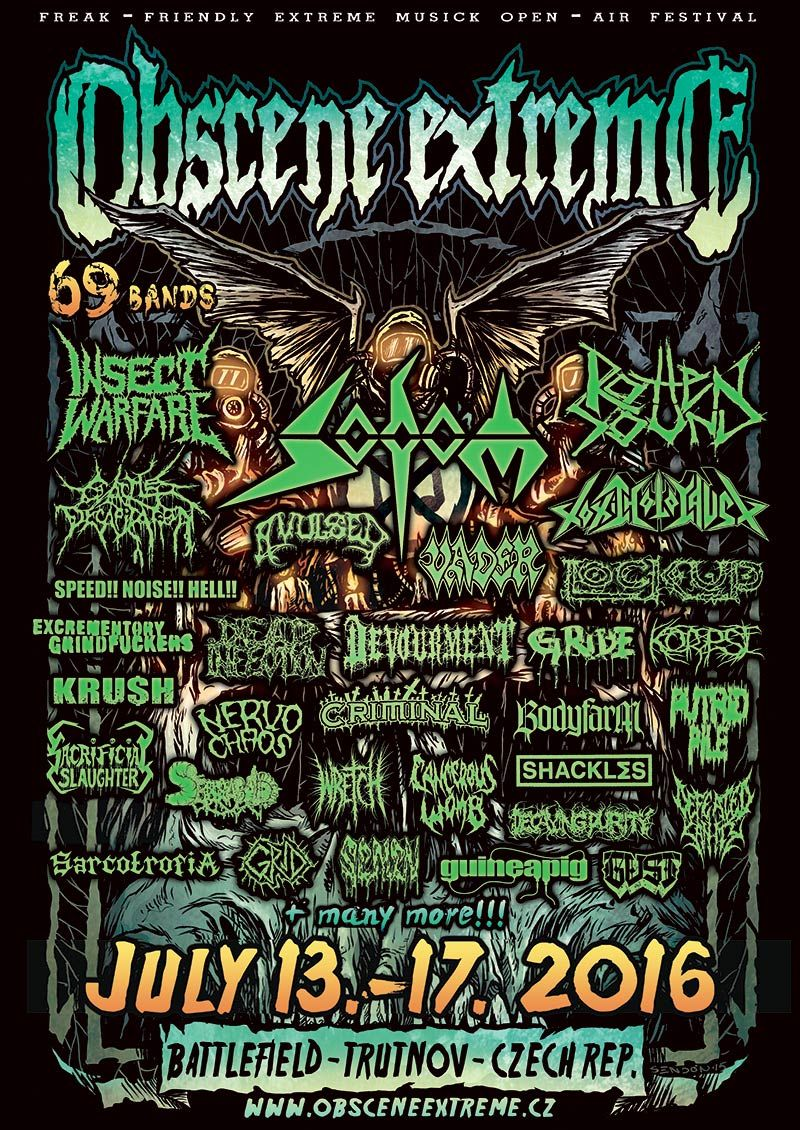 Thousands of grinders all over the world have been waiting for this moment for many years and now it is here! An exclusive show at Obscene Extreme fest and a