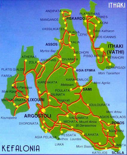 Kefalonia Island Map map of kefalonia | ΕΙΚΟΝΕΣ ΚΕΦΑΛΟΝΙΑΣ ΚΑΙ ΙΘΑΚΗΣ in 2019 | Greece