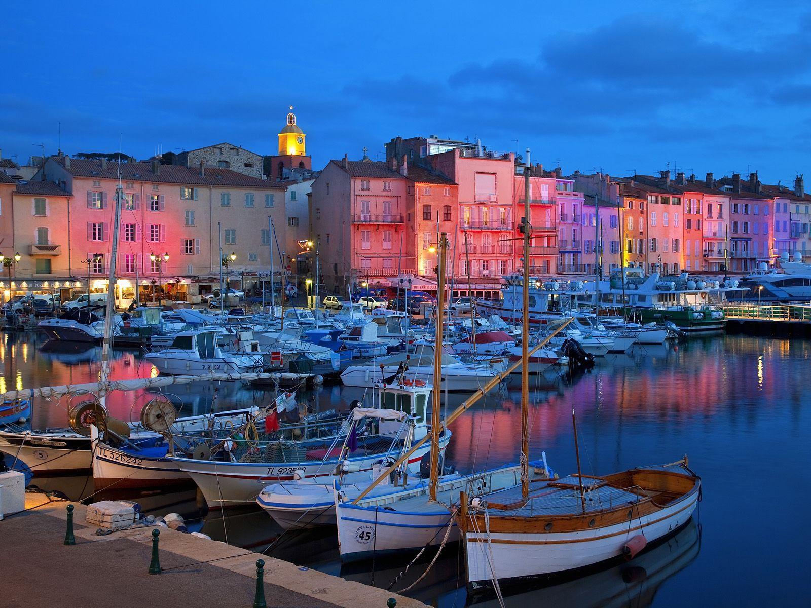 Saint Tropez by night Côte d'azur, Lieux de vacances