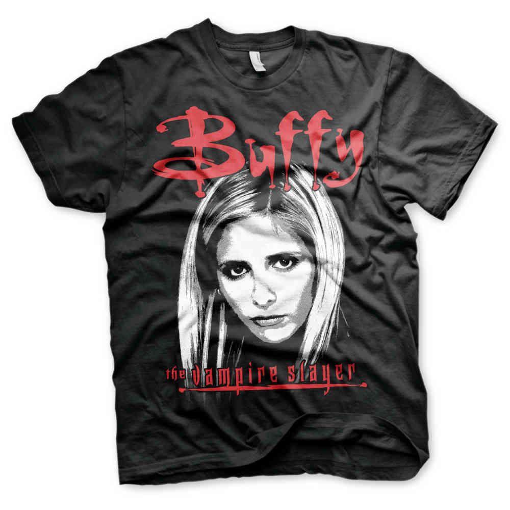 Buffy the vampire slayer unisex tshirt zwart attitude