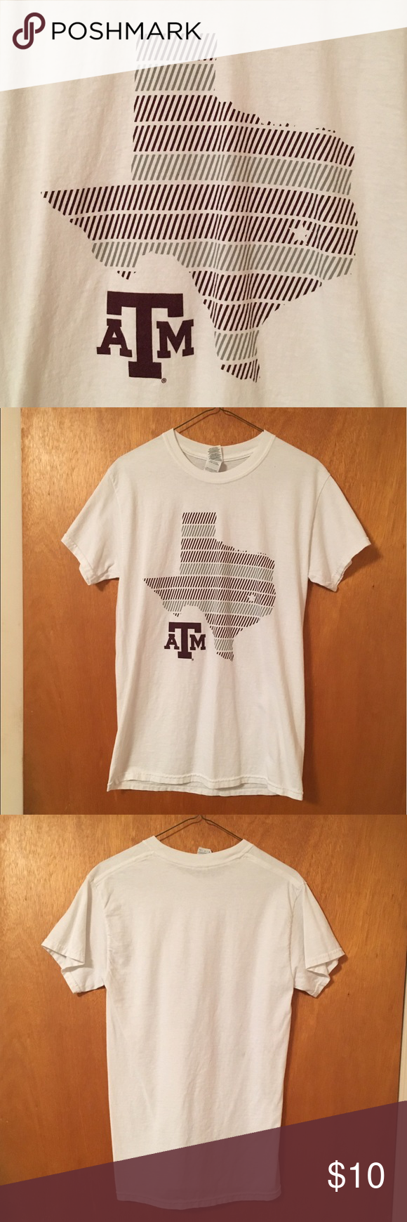 Texas A&M College Station tee! Cute print Texas A&M University tee shirt! Women's Small. Design has a star over College Station! Worn once or twice. No picture on the back. Feel free to make an offer or ask questions! Gildan Tops Tees - Short Sleeve