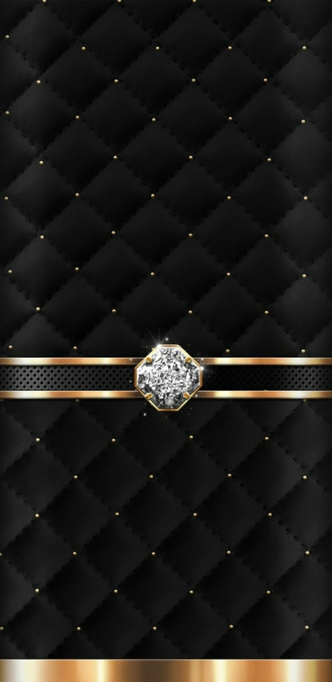 Black and gold Diamond wallpaper, Bling wallpaper