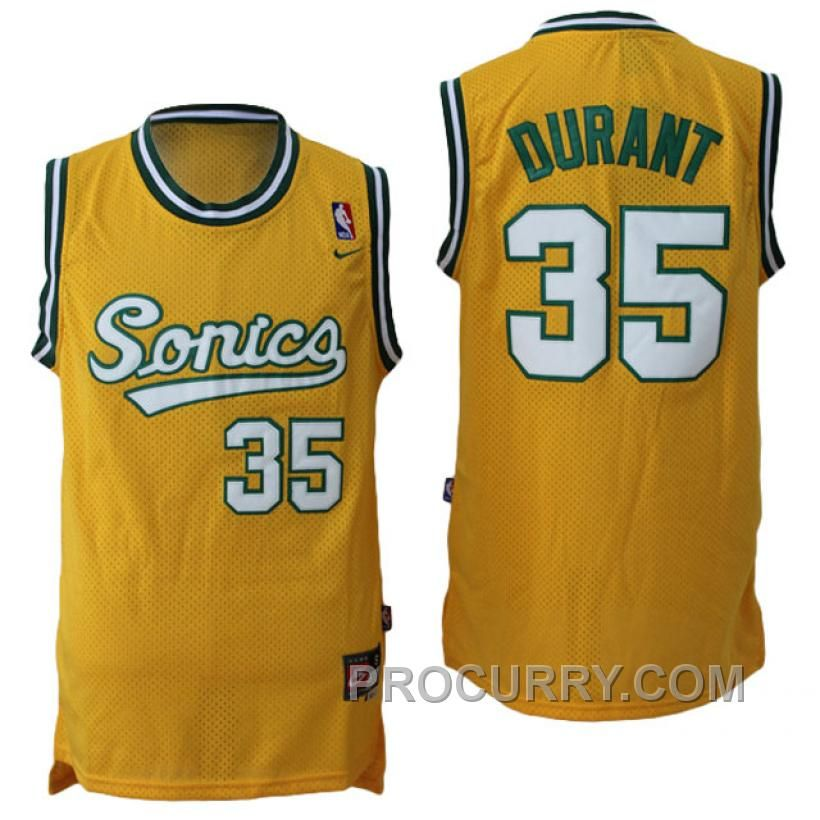 6d6a92631 ... Buy Kevin Durant Seattle Supersonics Throwback Vintage Swingman Yellow  Jersey from Reliable Kevin Durant Seattle Supersonics ...