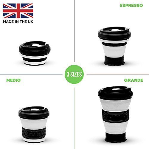 Collapsible Coffee Cup Silicone with Lids Portable Coffee Cup Foldable Coffee Mugs Collapsible Fits in Your Pocket